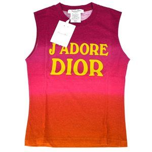 Authentic NEW Dior J'Adore Red Tanktop  rare pink